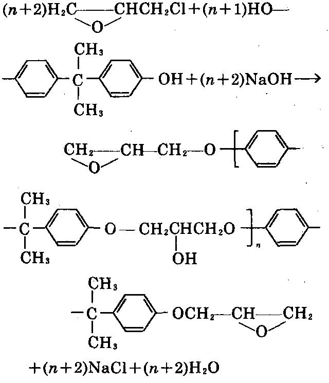 双酚A型环氧树脂 制备化学反应式
