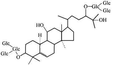 罗汉果皂苷A3结构式