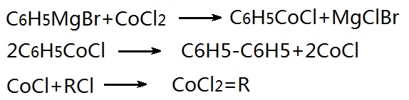 a reaction scheme catalyzed by cobalt dichloride.