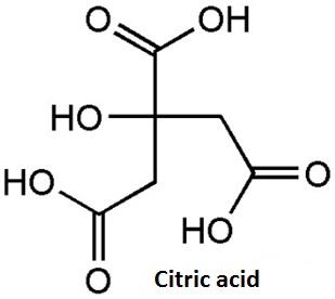 the structure of citric acid