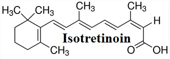 Structure formula of Isotretinoin