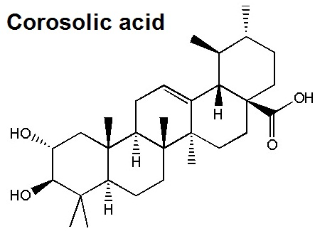 the structural formula of corosolic acid