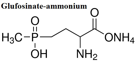 The chemical structural formula of Glufosinate-ammonium