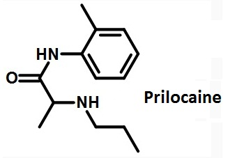the structural formula of prilocaine