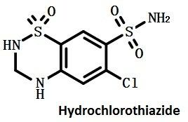 the structure formula of hydrochlorothiazide