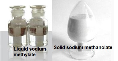 Solid sodium methanolate and sodium methoxide methanol solution