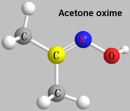 the molecular structure of Acetone oxime