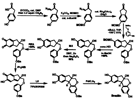 巴西苏木素的合成路线