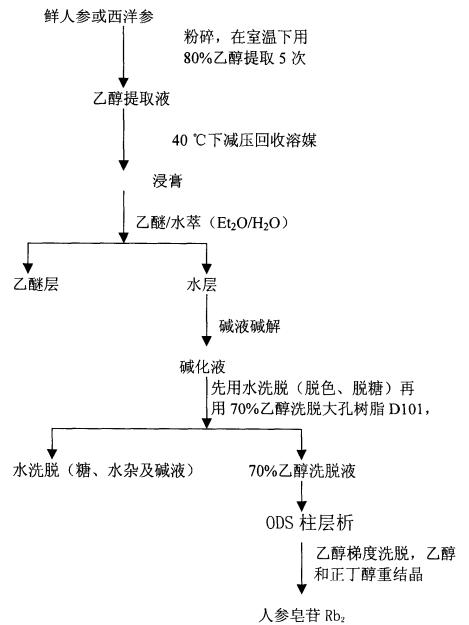 人参皂苷Rb2提取工艺流程