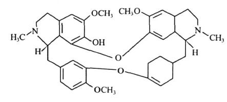 防己诺林碱的结构图