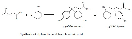 Synthesis of diphenolic acid from levulinic acid
