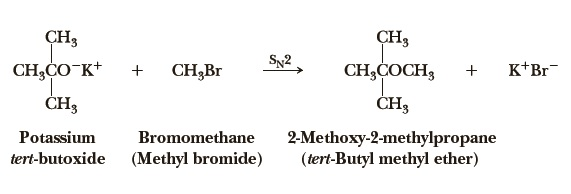 preparation of tert-butyl methyl ether
