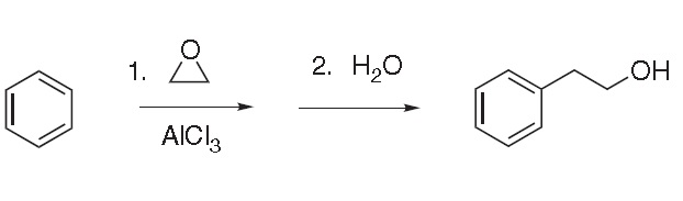Friedel–Crafts reaction of benzene and ethylene oxide