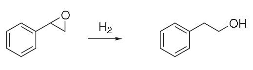 Hydrogenation of styrene oxide