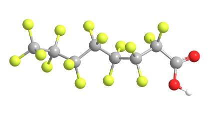 Perfluorooctanoic acid structure