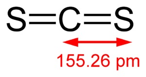 二硫化碳 分子结构式