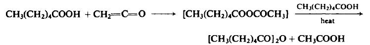 Preparation of n-Caproic Anhydride