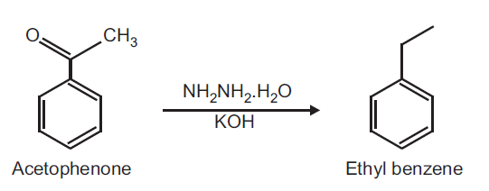 Preparation of Ethylbenzene from Acetophenone