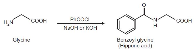 Preparation of Hippuric acid from Glycine
