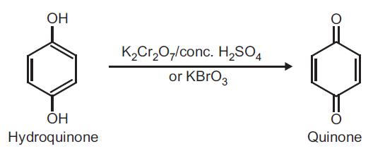 Preparation of Quinone (p-Benzoquinone) from Hydroquinone