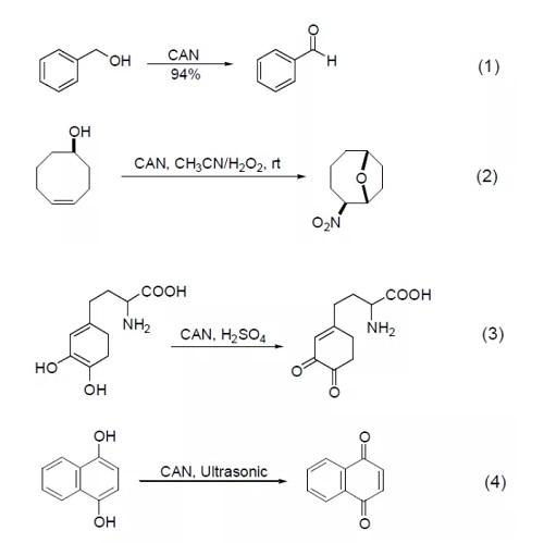 硝酸铈铵 氧化反应