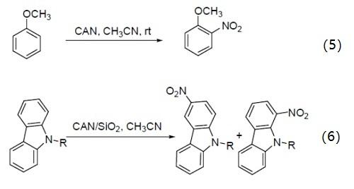硝酸铈铵 硝化反应