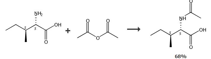 N-乙酰-L-异亮氨酸的合成路线