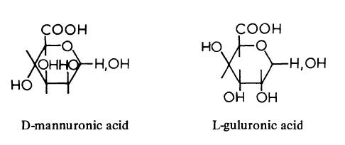 D-mannuronic acid or L-guluronic acid