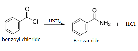 Preparation of benzamide from benzoyl chloride