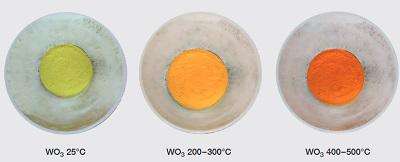 hermochromism of Tungsten trioxide