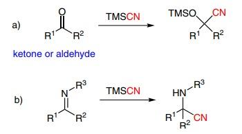 Trimethylsilyl cyanide Reactions