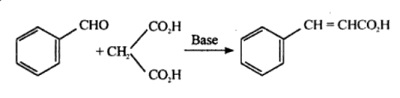 Synthesis of cinnamic acid from benzaldehyde