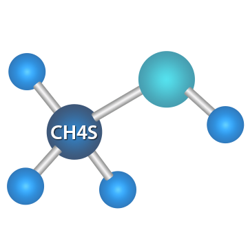 甲硫醇 分子结构式