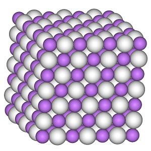 氢化锂晶体 结构图