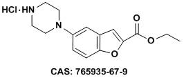 5-哌嗪基苯并呋喃-2-羧酸乙酯盐酸盐