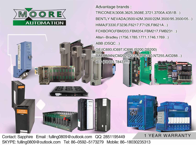 ABB 1SVR550127R1100价格 产地:CHINA 品牌:ABB 厂家:MOORE