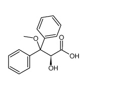 S)-2-羟基-3-甲氧基-3,3-二苯基丙酸,	Benzenepropanoic acid,a-hydroxy-b-methoxy-b-phenyl-,(aS)-