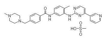 甲磺酸伊马替尼 结构式