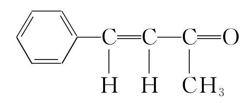 苄叉丙酮 分子结构