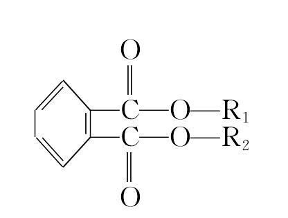 邻苯二甲酸酯 分子结构式