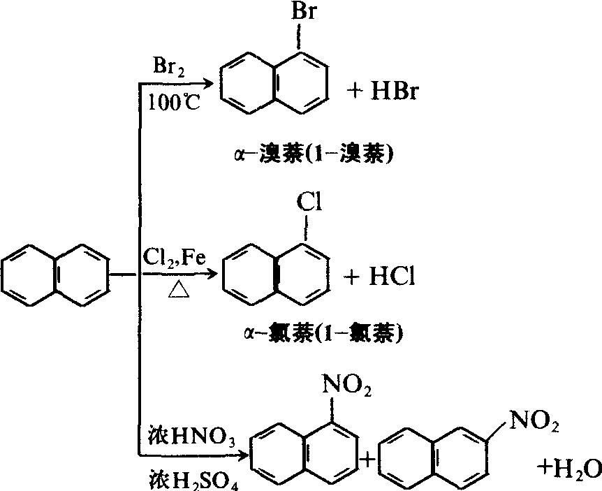 萘的卤代反应