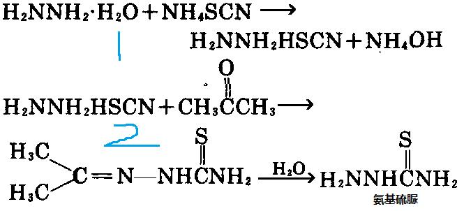 丙酮缩氨基硫脲水解制备氨基硫脲