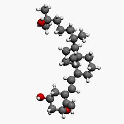 骨化三醇立体分子结构式