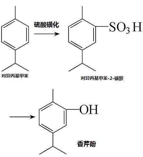 对异丙基甲苯制备香芹酚