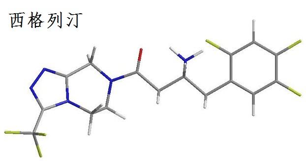 西格列汀化学结构式