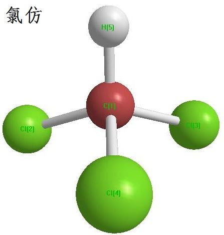 氯仿化学 结构式