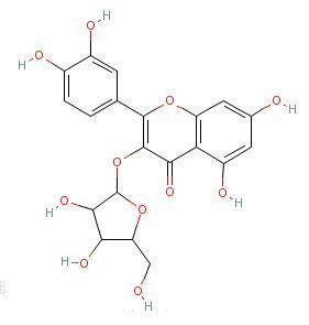 萹蓄苷结构式