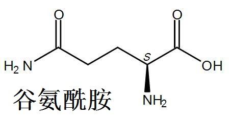 谷氨酰胺 结构式