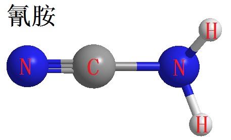 氰胺三维立体结构式