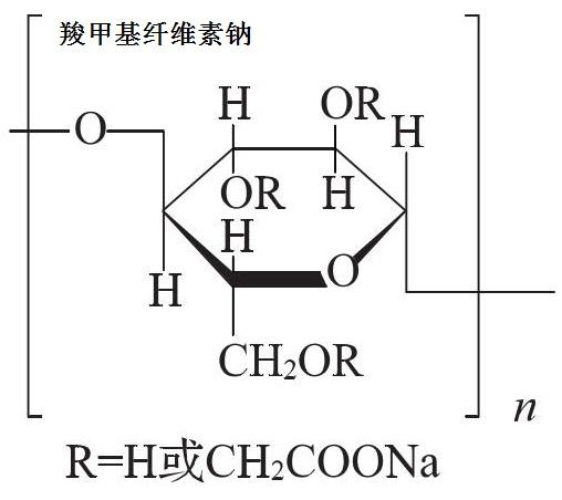 羧甲基纤维素钠 分子结构式